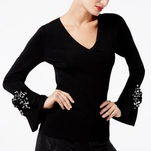 INC, Concepts Embellished Bell- Sleeve Sweater